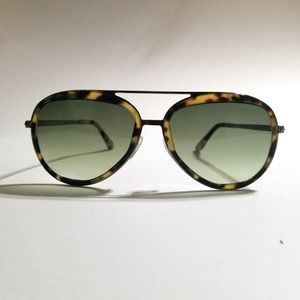 Tom Ford Andy with Green Gradation & Yellow Havana